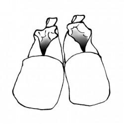 chaussons en tissu semelles cuir souple personnalisés
