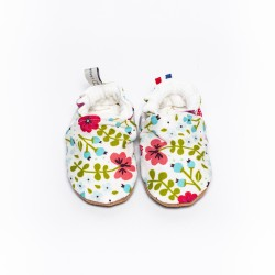 Chaussons souples semelle en cuir Little Wood