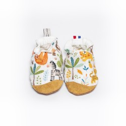 Chaussons souples renfort en cuir Baby Jungle