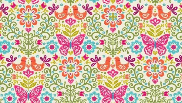 tissu papillon