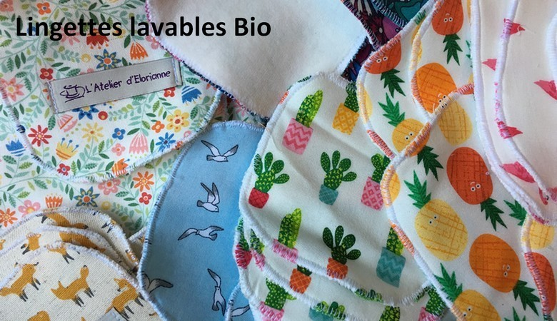Lingettes lavables Bio